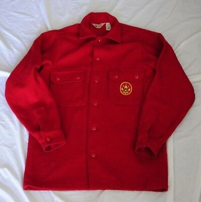 Boy Scouts of America Official Uniform Red Wool Jacket with Patch #553AL Size 40