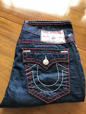 62777104 MENS TRUE RELIGION Jeans Ricky N.Y. Red Nashville Super T Sz 38 x 34 ...