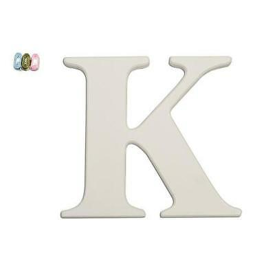 "Babies""R""Us 1883 K White Wooden Personalizable Letter Wall Decor 7.5 Inch BHFO"