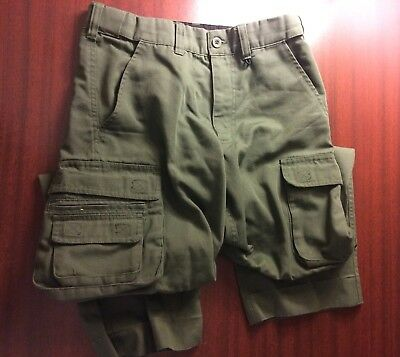 Youth Size 12 Official Boy Scout Uniform Switchback Convertible Pants Canvas