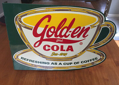 Golden Girl Cola Sun Drop Soda Advertising Flange Sign_Ltd Ed_Only 750 made