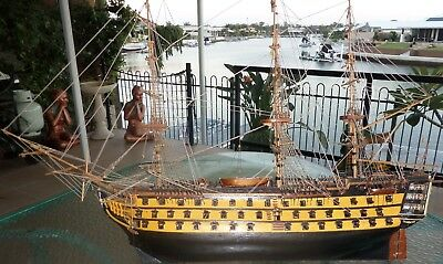 SCRATCH BUILT 1120 mm MUSEUM QUALITY HAND CRAFTED HISTORIC HMS VICTORY SHIP*