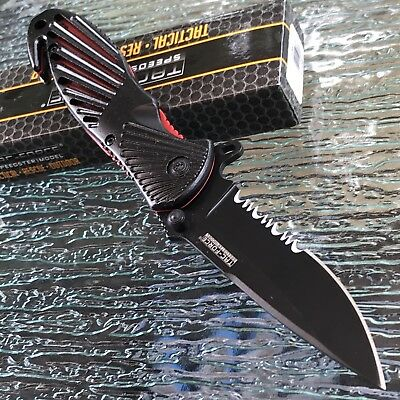 """8.5"""" Tac Force Spring Assisted Tactical Outdoor Rescue Folding Pocket Knife Open"""