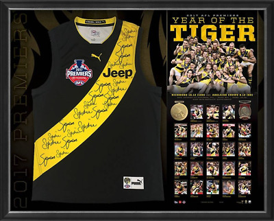 FRAMED 2017 SIGNED RICHMOND PREMIERS GUERNSEY/JUMPER/Jersey $1599 RRP $1995