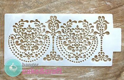 Large Baroque Pattern Stencil - Cake Decorating