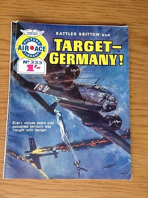 PICTURE AIR ACE LIBRARY No.333 - BATTLER BRITTON AND TARGET GERMANY!