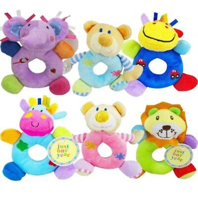 Soft Infant Baby Animal Rattle Hand Bells Stuffed Plush Toy Kids Educational Toy