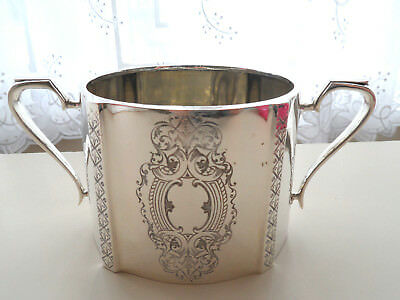 Victoran Silver Plate Large Sugar Bowl  Chased Decoration  Epns