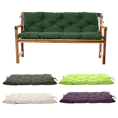 Water Resistant Outdoor Garden 2 & 3 Seater Bench Backrest Cushions Tufted Pads