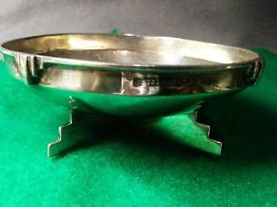 sterling silver EDWARDIAN ART DECO1910 early FABULOUS DESIGN FOOTED BOWL