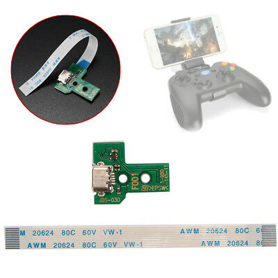 Micro USB Charging Port JDS-001 + 12Pin Flex Cable Parts For PS4 Controller