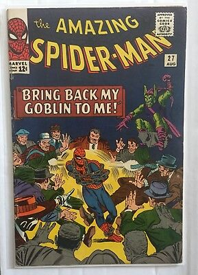 AMAZING SPIDER-MAN #27 Marvel Comics 1965 Early Green Goblin Appearance!