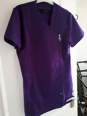 beauty therapist tunic in plum size 12