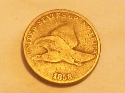 ** 1858Ll Flying Eagle Cent  Scarce Old Coin **