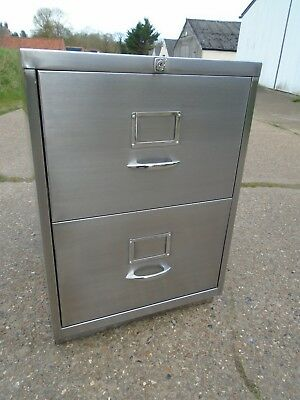 Industrial / Vintage Filing Cabinet Stripped & Polished Great Looking Piece