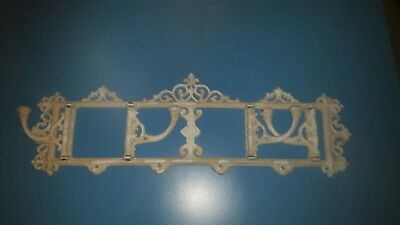 Victorian/shabby chic cast iron coat rack