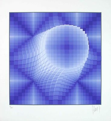 Jean-Pierre Vasarely - Forme Ronde, hand-signed serigraph