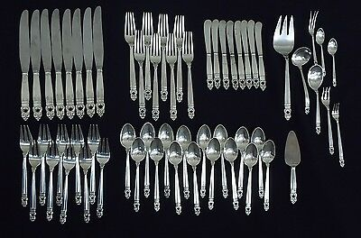 International Silver Royal Danish Service for 8 + extras & 9 Serving Pieces