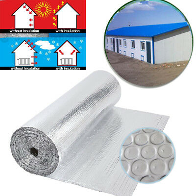 Double Aluminium Single Layer Bubble Reflective Foil Insulation Radiant Barrier