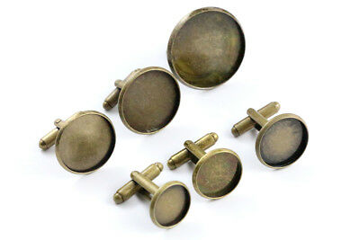10pcs Bronze Plated Cufflink Blanks | Choice of 6 Sizes