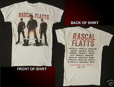 RASCAL FLATTS Nothing Like This Tour 2011 Size Small White T-Shirt