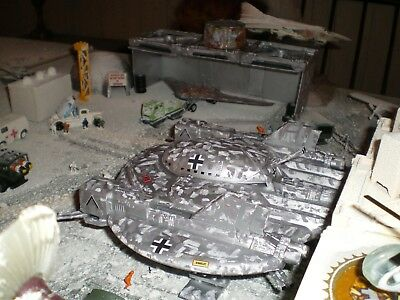 """Captured Nazzi Flying Saucer Base, Antarctic Diorama, Size 90""""X 60"""",Scale 1/72"""