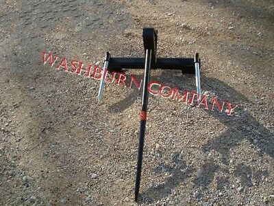 """Hay Bale Mover Front Mount Bucket Bale 1 Spear, 48"""" Long"""