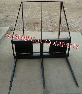 "SkidSteer 3 Spear on 5' Frame w/ 2 1/2"" Topper"