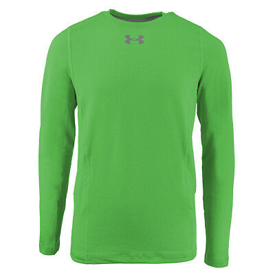 Under Armour Boys' ColdGear Infrared Everyday L/S Printed Shirt Green/Steel S