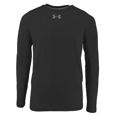 Under Armour Boys' ColdGear Infrared Everyday L/S Printed Shirt Black/Steel XL
