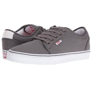 VANS CHUKKA LOW Pewter White Red Skate Shoes MEN S 6.5 WOMEN S 8 ... 50f6eae633
