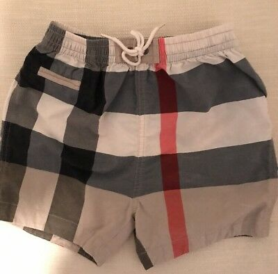 Authentic Burberry Classic Baby Boy Swim Shorts Trunks Size 12 Months