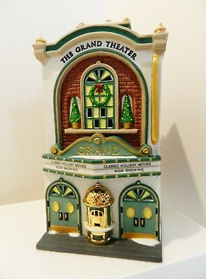 """Dept.56  Christmas In The City  Series ,  """" Grand Movie Theater """"   #58017  Nib"""