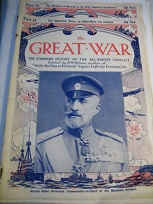 The Great War Parts 11 and 12 dated October and November 1914