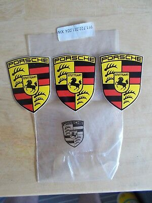 PACK OF 3 PORSCHE FACTORY CREST DECALS STICKERS 1990s 911 944 928 914 356 930