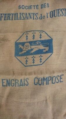 SUPERB ANTIQUE FRENCH FEED GRAIN SACK PERFECT FOR UPHOLSTERY OR PROJECTS c1930