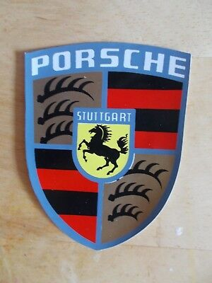 RARE, ORIGINAL 1970s PORSCHE FACTORY CREST HOOD DECAL STICKER 911 914 930 935