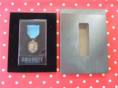 Call of Duty Black Ops Abzeichen Stoff Metall Dog Tag in Verpackung