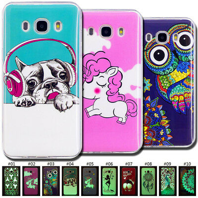 Luminous Painted Silicone Soft Cover TPU Skin Case For Samsung Galaxy J7(2016)