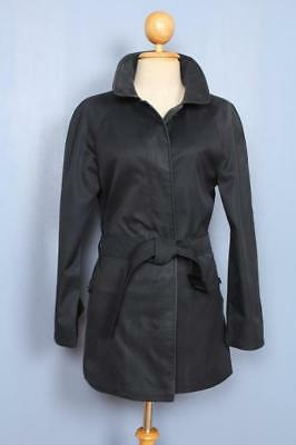 Womens BURBERRY Single Breasted Short TRENCH Coat Mac Navy 6/8
