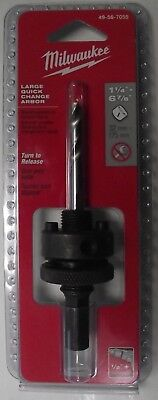 Milwaukee 49-56-7055 Hole Saw Arbors for 1-1//4-Inch /& Larger Hole Saws