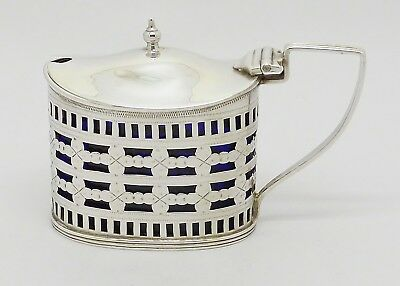 Beautiful Victorian Solid Sterling Silver Mustard Pot Hm Chester 1900 Great Gift