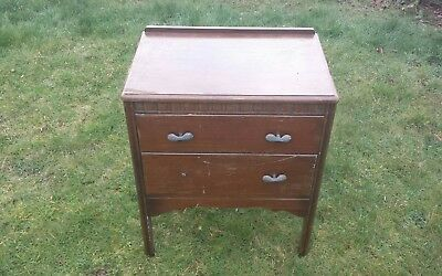 small bedside cupboard project restoration dark wood used old good repairs parts