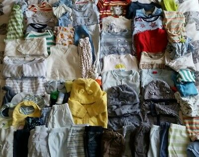Massive Baby Boys Bundle 0-3 Months M&S Mothercare F&F etc Over 70 Items