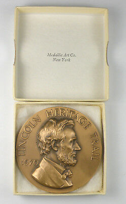 Medallic Art Co. NY. - Lincoln Heritage Trail Bronze Medal