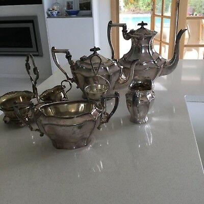Genuine Vintage  High Tea EPNS Coffee & Tea Service with  Bonus Items