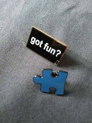 """Toys R Us Pins - """"Got Fun?"""" and Puzzle Piece!"""