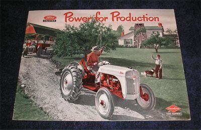 """Original Ford 8N Tractor """"Power For Production"""" sales brochure 1951"""