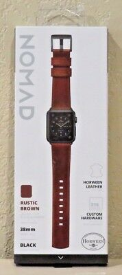 Nomad - Leather Strap - Horween Leather for Apple Watch 38mm (Brown) NEW!