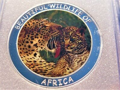 2005 Leopard 10 Kwacha Republic Of Malawi Mother Nature Of Africa Coin
